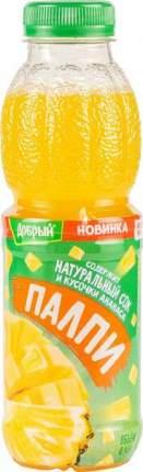 Напиток Палпи с натуральным соком и кусочками ананаса 0.45 л
