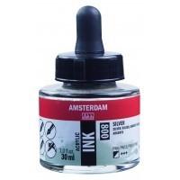 Акриловые чернила Royal Talens Amsterdam №800 серебряный 30 мл