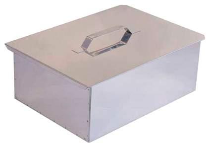 Технолит Коптильня двухъярусная Технолит с поддоном, 380х280х170 мм, сталь 0,5 мм