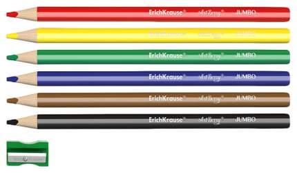 Карандаши цветные Erich Krause Jumbo 6 цветов