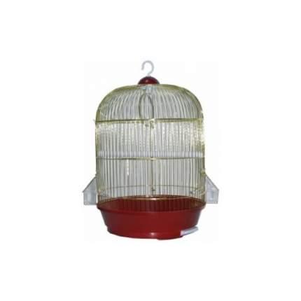Клетка для птиц №1, круглая, укомплектованная, золотая, 33х53 см