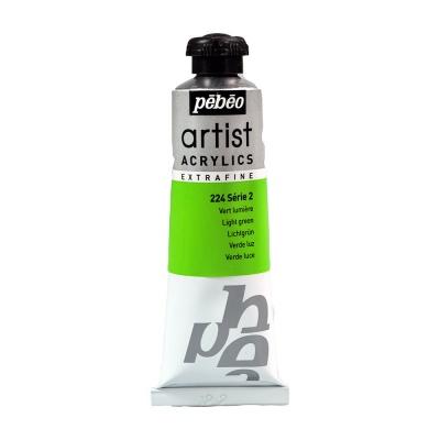 Акриловая краска Pebeo Artist Acrylics extra fine №2 зеленый светлый 37 мл