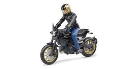Фигурка Bruder Scrambler Ducati Cafe Racer с мотоциклистом 63-050