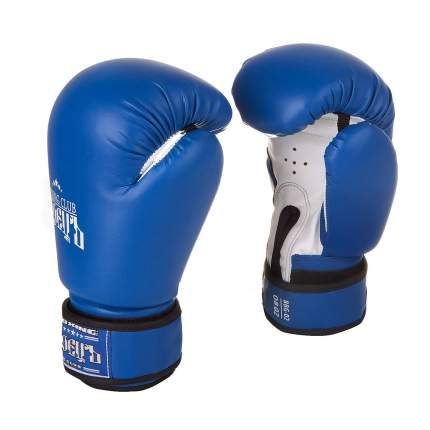Боксерские перчатки БоецЪ BBG-02 синие 6 унций
