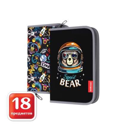 Пенал-книжка c наполнением ErichKrause® 135x205x30мм Space Bear