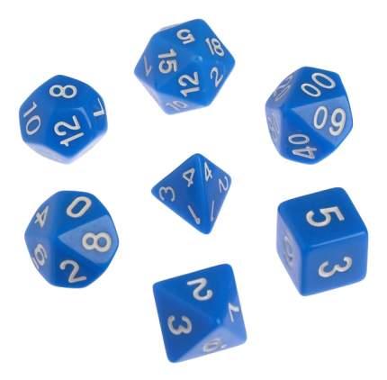 Классический набор дайсов, набор из 7 костей, синие Sima-Land