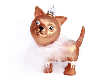 Елочная игрушка Kaemingk Карнавальная собачка 123160-11 10 см 1 шт.