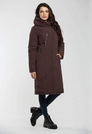 Пуховик женский D`imma fashion studio 2021 коричневый 64 RU
