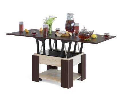 Журнальный столик СОКОЛ СЖ-2 80/160х75х42/72 см, венге/дуб сонома