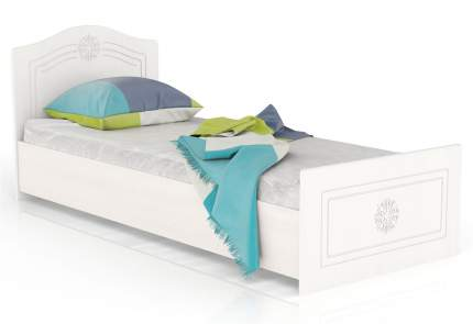 Кровать Мебельный Двор Онега 800БЯ белый 94х204х84, сп. м. 800х2000 мм.