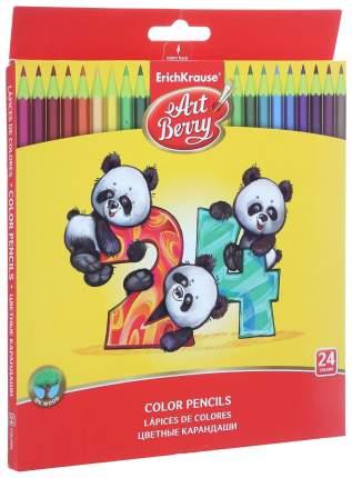 Карандаши цветные шестигранные ArtBerry 24 цветов