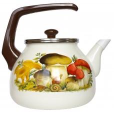 Чайник для плиты Interos Грибы 3,0л эмалированный с кр.