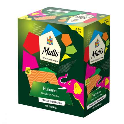 Чай черный Matis рухуна  100 пакетиков