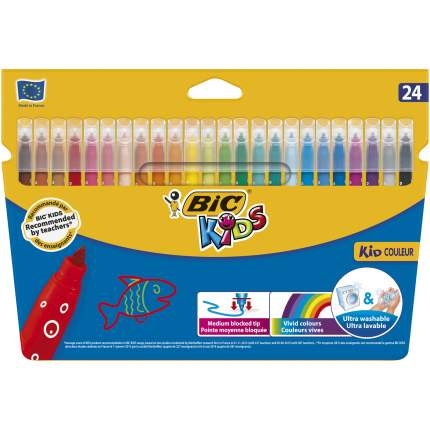 Фломастеры цветные BIC Kids Kid Couleur Коробка x24