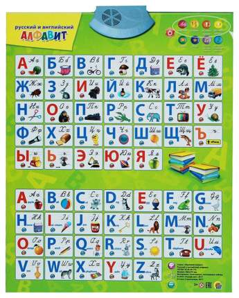 Рыжий Кот Звуковой Плакат Русский и Английский Алфавит Рыжий Кот Зп-7196