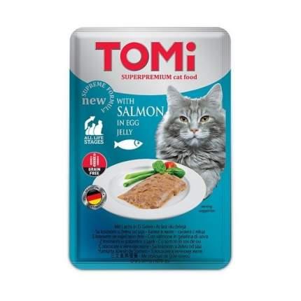 Паучи Tomi GF c лососем в яичном желе для кошек (100 г)