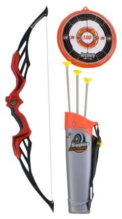 Лук со стрелами на присосках, в наборе 3 стрелы, колчан и лук