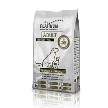 Сухой корм для собак Platinum Adult Iberico&Greens, иберийская свинина с зеленью, 5кг