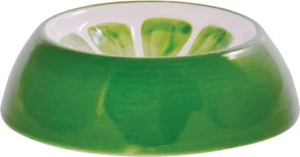 Миска для грызунов КерамикАрт Лайм, керамическая, зеленая, 10мл