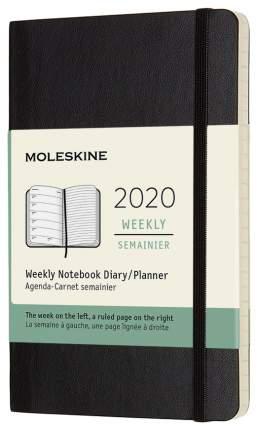 Еженедельник MOLESKINE Classic WKNT Pocket Soft DSB12WN2 Черный