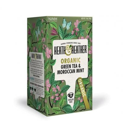 Чай зеленый Heath and Heather с марокканской мятой органик 20 пакетиков