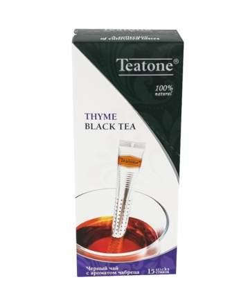 Чай черный Teatone байховый с ароматом чабреца в стиках 15 пакетиков