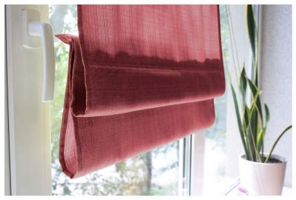 Римская штора Эскар Ballard 160х160 цвет красный