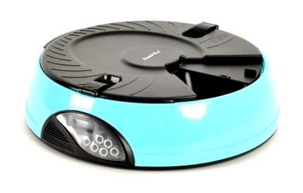 Автокормушка для кошек и собак Feed-Ex, жк дисплей, с таймером, голубая 1.8 л