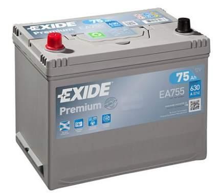 Аккумулятор автомобильный EXIDE EA755 75 Ач