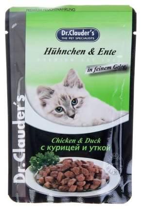 Влажный корм для кошек Dr.Clauder's, с курицей и уткой в желе, 20шт по 100г