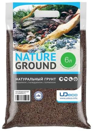 Натуральный песок для аквариумов и террариумов UDeco River Brown, бежевый, 0,1-0,6 мм, 6 л