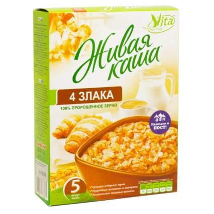 Каша Vita живая 4 злака хлопья из пророщенного зерна 300 г
