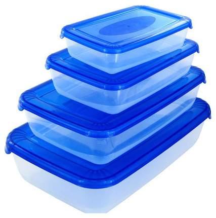 Набор контейнеров для хранения пищи Plast Team PT1686 Polar Синий