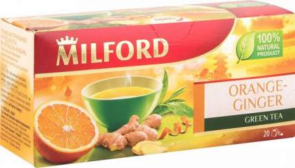 Чай зеленый Milford оrange-ginger 20 пакетиков