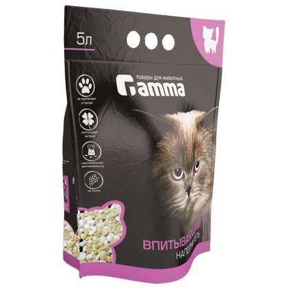 Наполнитель для кошачьего туалета Gamma, впитывающий, 5л, 3кг
