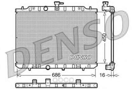 Радиатор охлажденияnissan xtrail 2.0i 16v 07 мкпп Denso DRM46009