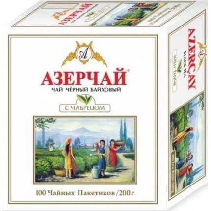 Чай черный Азерчай с чабрецом 100 пакетиков