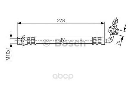 Шланг тормозной Bosch 1987476113