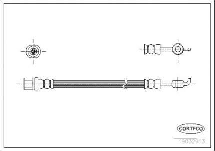 Шланг тормозной системы CORTECO 19032913