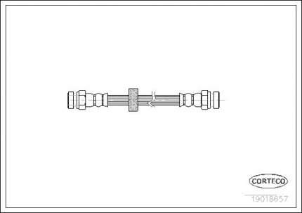Шланг тормозной CORTECO 19018657