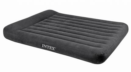 Надувной матрас с подголовником Intex Pillow Rest Classic Bed Черный