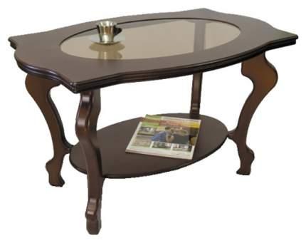 Журнальный столик Мебелик Берже 1С 880 94х60х56 см, тёмно-коричневый
