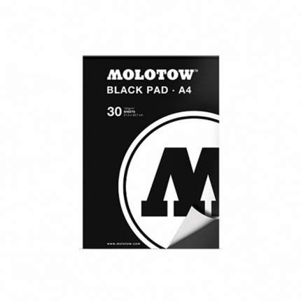 Скетчбук-альбом Molotow A4 Black pad