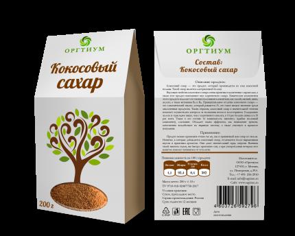 Кокосовый сахар Оргтиум био 200 г