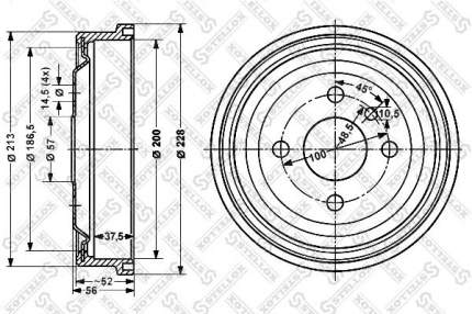 Тормозной барабан STELLOX 6025-3605-SX