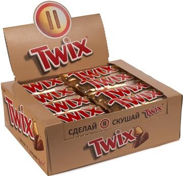 Шоколадный батончик Twix 40 шт по 55 г
