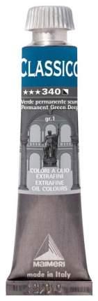 Масляная краска Maimeri Classico зеленый стойкий темный 20 мл