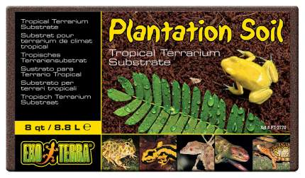 Субстрат для террариума Exo Terra Plantation Soil, Кокосовая крошка, 8,8 л