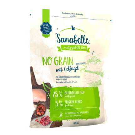 Сухой корм для кошек Sanabelle No Grain, беззерновой, домашняя птица, 0,4кг