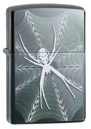 Зажигалка Zippo Spider and Web Design Black Ice
